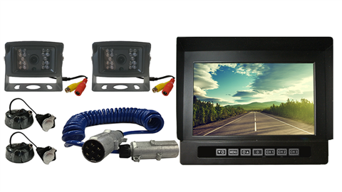 Wired RV backup cameras with 7