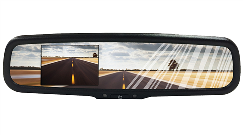 Full Rear View Mirror with Bluetooth and Built in Camera 4.3