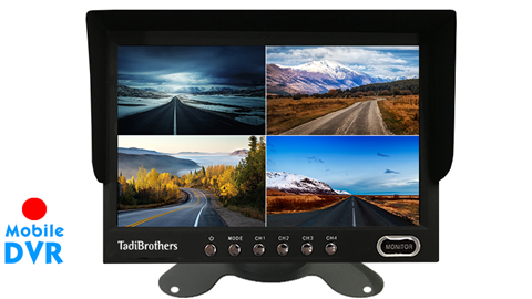 9-Inch Split Screen Monitor with built in DVR for up to 4 Backup Cameras | SKU34290