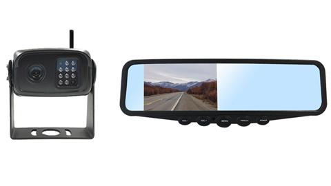 Digital Wireless Rv Backup Camera With Rear View Mirror