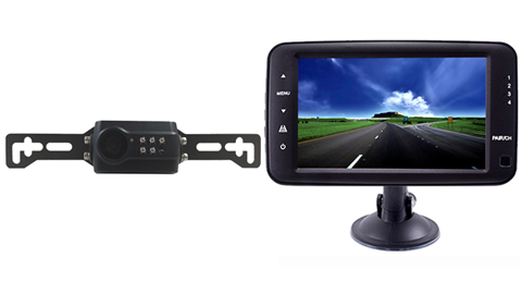 Digital Wireless License Plate Backup Camera | 5 Inch Monitor SKU-76596