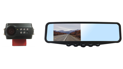 Digital Wireless Slip-On License Plate Backup Camera with Clip On Mirror