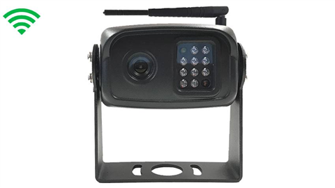 The 120 degree built-in wireless RV backup camera works with our built-in monitors only. Please call for compatibility.