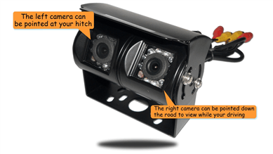 Backup camera with dual lens