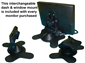 #Adjustable dash mount is included with the 10.5 inch monitor