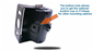 #Includes lower mounting point for optional C-clamp or suction cup attachments.