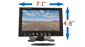 #7 inch Monitor Dimensions 4.8 inches by 7.1 inches by .5 inch