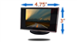 #4.3 inch monitor Dimensions 3 inches by 4.75 inches by 0.25 inch