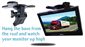 #9 inch LCD Monitor comes with a dash mount.