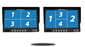 #You can split the 4 way split screen into an array of different views.
