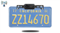 #The 120 degree built-in wireless license plate backup camera attaches above any standard North American license place.