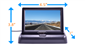 #4.5 inch Pop-up LCD Monitor for any Backup Camera