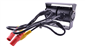 #The double lens RV backup camera includes 2 yellow RCA video plugs and 2 red DC power plugs.