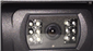 #Closeup of the 120 degree automatic shutter backup camera lens with automatic night-vision infrared LEDs.