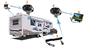 #Installation example on a 5th wheel camper/trailer. The trailer tow quick disconnect makes hard wired camera systems a snap!