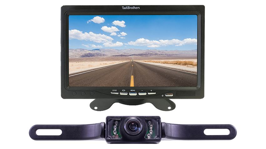 license plate reverse camera system for cars
