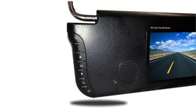 rear view visor monitor for cars