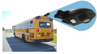 overhang roof backup camera for bus