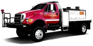 rear view camera  Brush Truck
