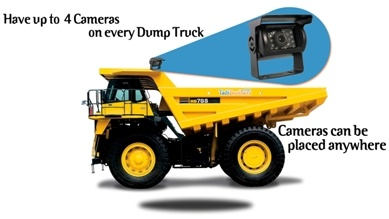 Commercial Caterpillar rear view camera