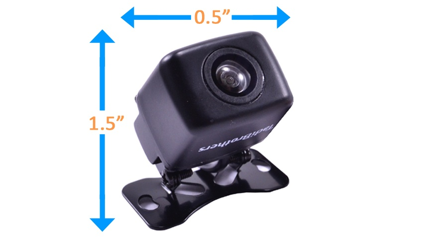 small backup camera dimensions