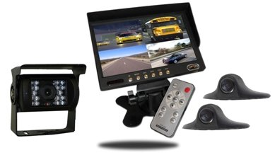Backup Camera | Two Side view Cameras | 7-Inch Split Screen