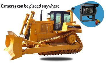 place backup camera anywhere on the Bulldozer