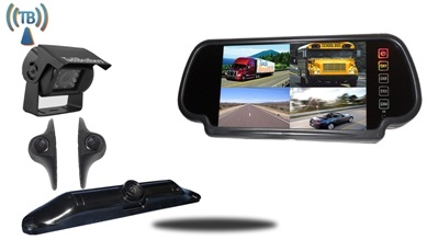 Aftermarket Wireless 4 cam Backup Camera kit