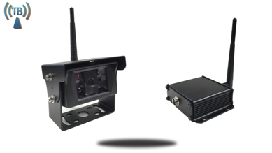 wireless backup camera and a receiver