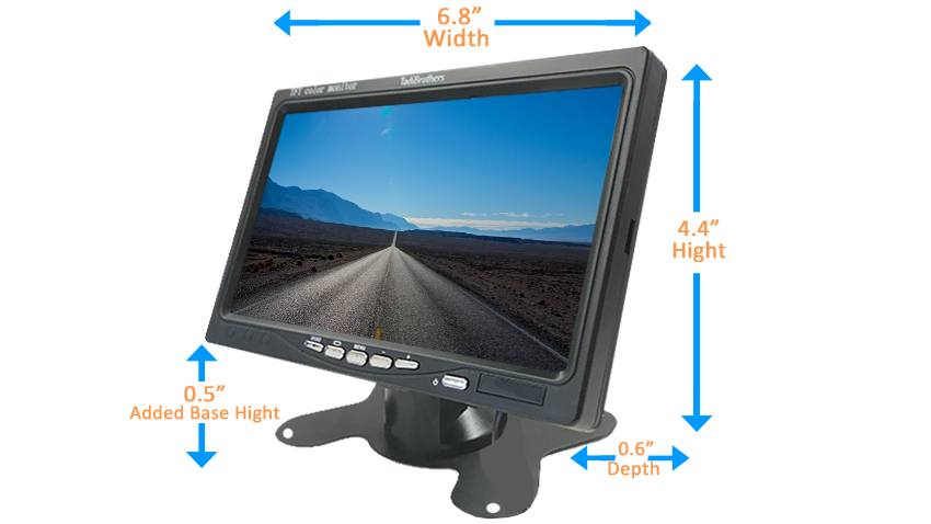 7 inch monitor dimensions