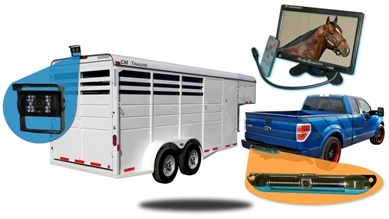 Horse Trailer Rear View System Including 1 Trailer And 1