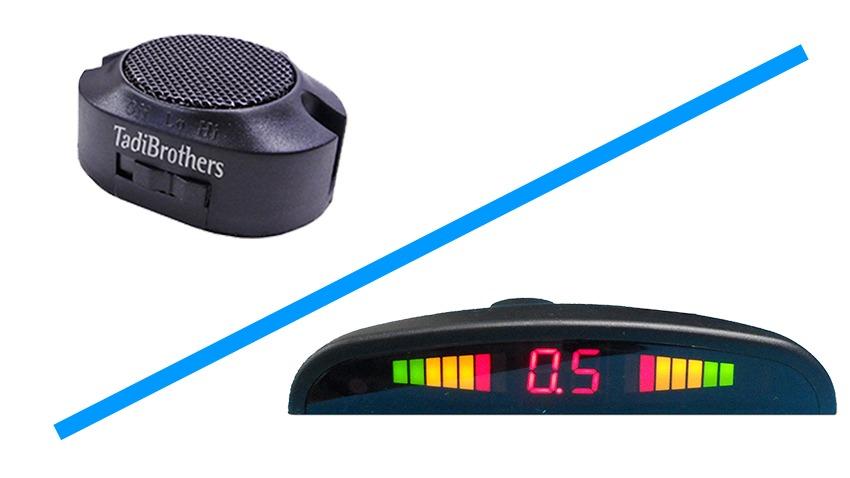 Parking sensors speaker and display