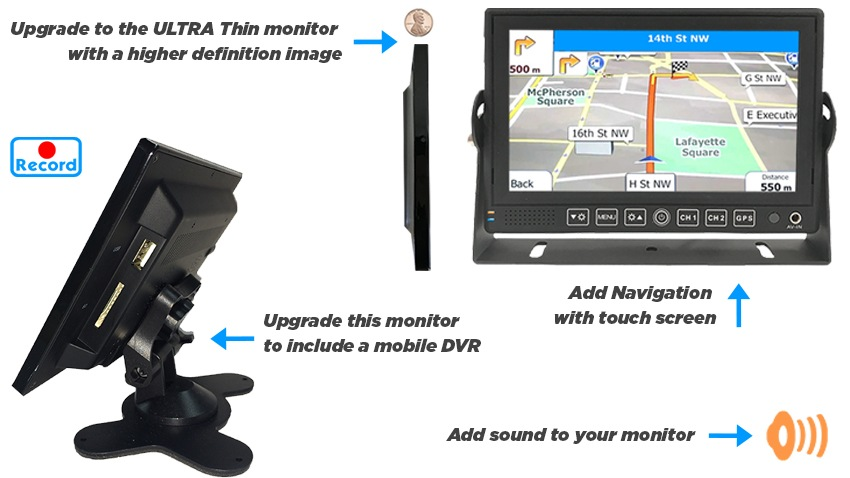 7-Inch Rear View Monitor for any Backup Camera on weldex monitor repair, weldex wdrv 3007m, sony backup camera wiring diagram, pioneer backup camera wiring diagram, pyle backup camera wiring diagram,