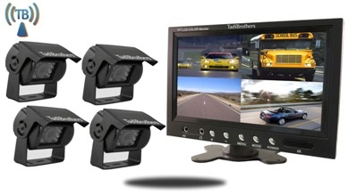 Rear View Wireless Backup System For Rvs With 4 Cameras