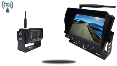 Heavy duty wireless backup camera with audio