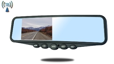 rear view mirror monitor for RV fith wheel and travel trailers