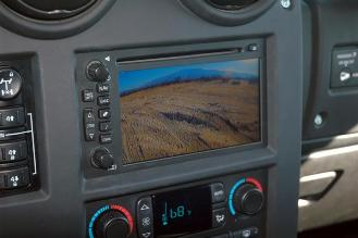 Hummer backup rearview camera system