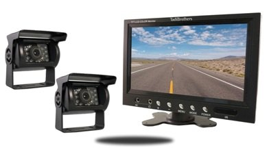 Two Backup Cameras with a monitor